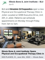 IBJI Opens Physical & Occupational Therapy Clinic in Joliet